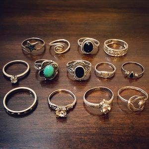 Jewelry - LOT Sterling Silver Stacking Mixed Rings Lot
